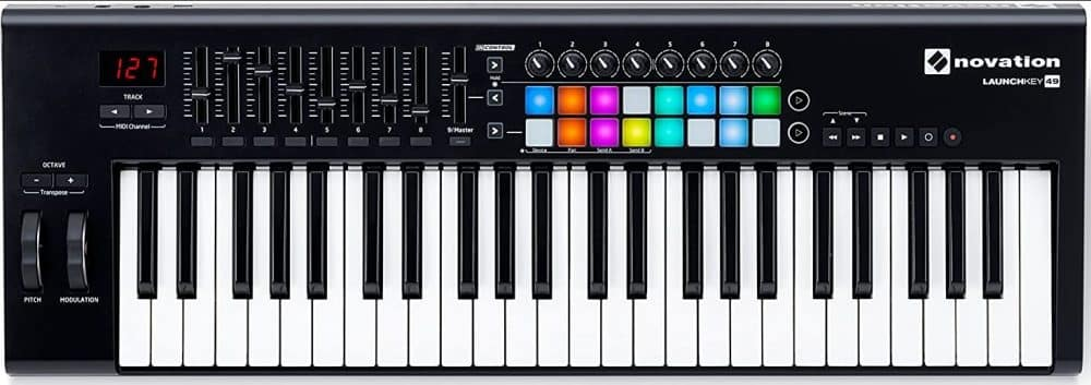 Novation Launchkey 49 USB Keyboard Controller 49-Note MK2 Version